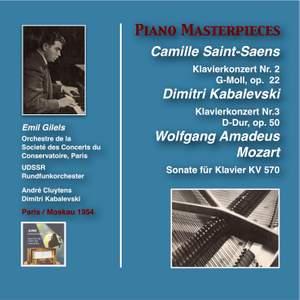 Emil Gilels Plays Saint-Saëns, Kabalevski & Mozart