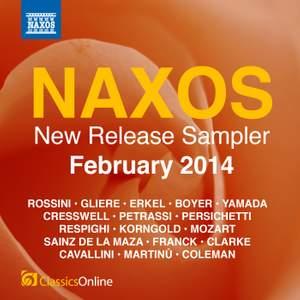 Naxos February 2014 New Release Sampler