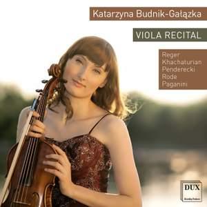 Katarzyna Budnik-Gałązka: Viola Recital