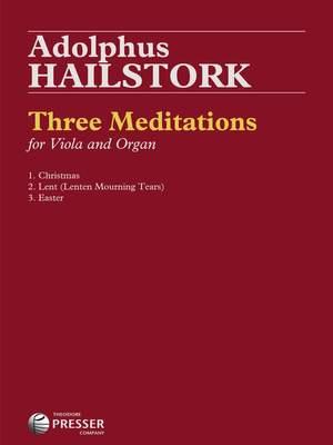 Adolphus Hailstork: Three Meditations