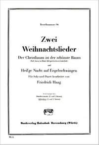 Friedrich Haag: 2 Weihnachtslieder