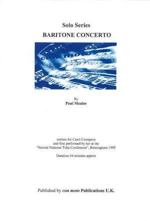 Baritone Concerto + piano reduction