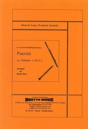 La Boheme, Scenes from Act 2, set