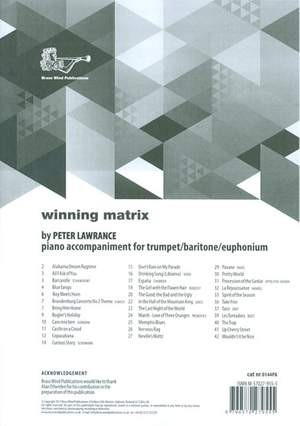 Winning Matrix Piano Accompaniment for Trumpet/Baritone/Euphonium