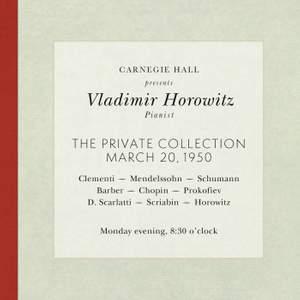 Vladimir Horowitz live at Carnegie Hall - Recital March 20, 1950