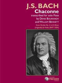 Bach J: Chaconne From Partita No. 2 in D Minor (Originally For Violin, BWV 1004)