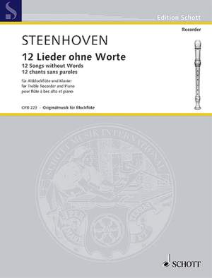 Steenhoven, K v: 12 Songs without Words