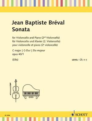 Bréval, J B: Sonata C major op. 40/1