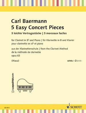 Baermann, C: 5 Easy Concert Pieces op. 63 Product Image