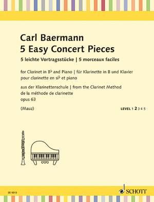 Baermann, C: 5 Easy Concert Pieces op. 63