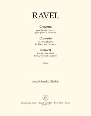 Ravel, Maurice: Concerto for the Left Hand for Piano and Orchestra