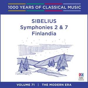 Sibelius - Symphonies Nos. 2 & 7, Finlandia: Vol. 71 Product Image