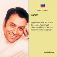 Mozart: Symphonies Nos. 34, 39, 40 & Eine kleine Nachtmusik