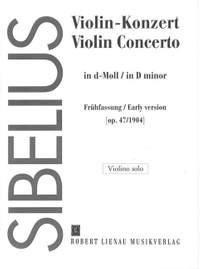 Sibelius, J: Violin Concerto D minor op. 47