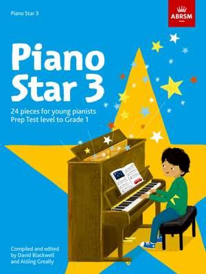 Piano Star Book 3: Prep Test Level to Grade 1