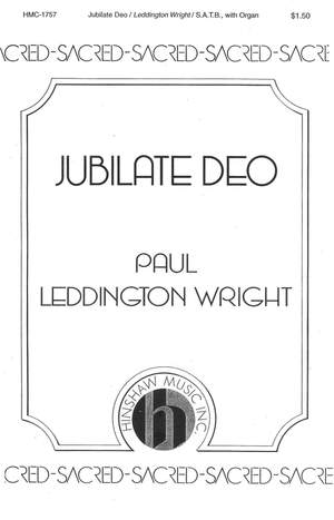 Paul Leddington Wright: Jubilate Deo