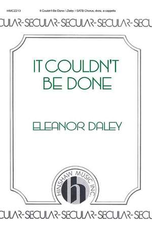 Eleanor Daley: It Couldn't Be Done