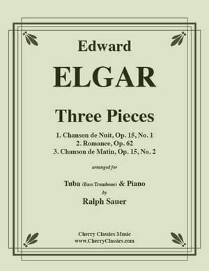 Edward Elgar: Three Pieces for Tuba or Bass Trombone & Piano