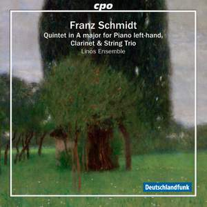 Schmidt, F: Quintet for clarinet, strings & piano in A major