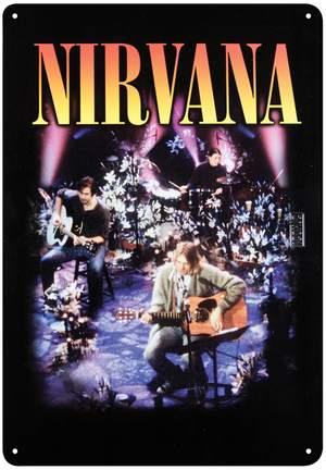 Nirvana Tin Sign - MTV Product Image