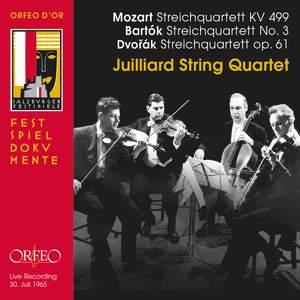 Juilliard String Quartet play Mozart, Dvorak & Bartók