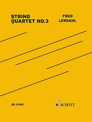 Lerdahl, F: String Quartet No. 3