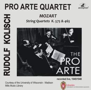 Mozart: String Quartets, K. 465 & 575