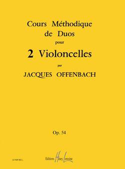 Offenbach, Jacques: Cours methodique de duos Op.54 (cello)