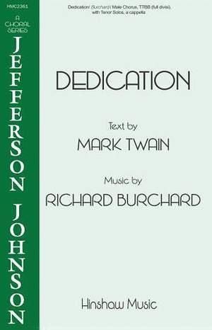 Richard Burchard: Dedication