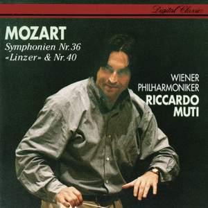 Mozart: Symphonies Nos. 36 & 40