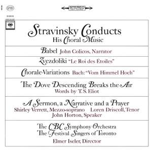 Stravinsky conducts his Choral Music