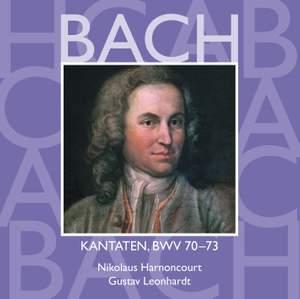 JS Bach: Sacred Cantatas BWV 70-73