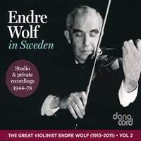 Endre Wolf in Sweden 1944-1978