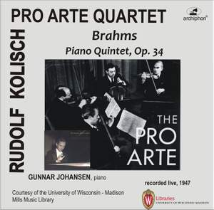Brahms: Piano Quintet in F minor, Op. 34