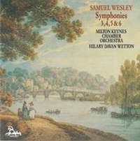 Samuel Wesley: Symphonies Nos. 3, 4, 5 & 6