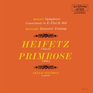 Mozart: Sinfonia concertante & Benjamin: Romantic Fantasy