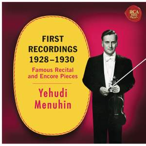 Yehudi Menuhin - First Recordings (1928 - 1930)