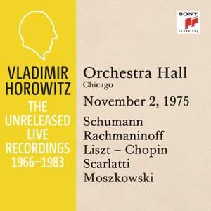 Vladimir Horowitz in Recital at Orchestra Hall, Chicago
