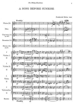Delius, Frederick: A Song before Sunrise, Symphonic poem