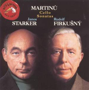 Martinů: Sonatas for Cello & Piano Nos. 1-3