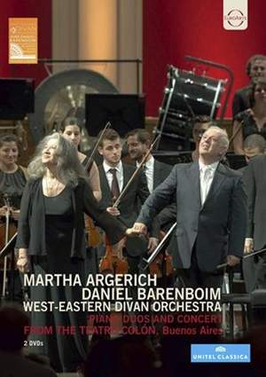 Martha Argerich & Daniel Barenboim from the Teatro Colón