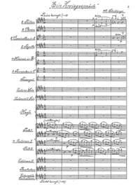 """Schillings, Max von: A Conversation """"Ein Zwiegespräch"""" Tone poem for small orchestra, Op. 8"""