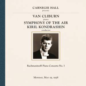 Van Cliburn at Carnegie Hall, New York City, May 19, 1958