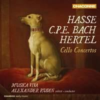 Hasse, CPE Bach & Hertel: Cello Concertos