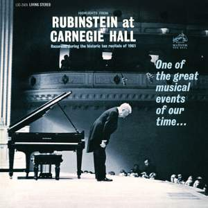 Highlights from 'Rubinstein at Carnegie Hall'`