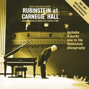 New Highlights from 'Rubinstein at Carnegie Hall'