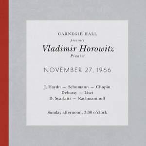 Vladimir Horowitz live at Carnegie Hall - Recital November 27, 1966