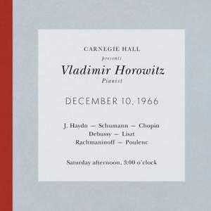 Vladimir Horowitz live at Carnegie Hall - Recital December 10, 1966