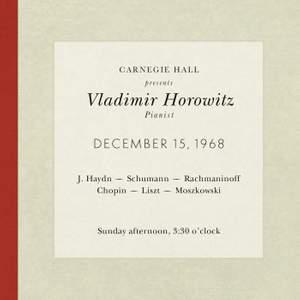 Vladimir Horowitz live at Carnegie Hall - Recital December 15, 1968