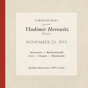 Vladimir Horowitz live at Carnegie Hall - Recital November 23, 1975